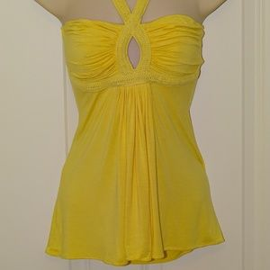 halter top with keyhole
